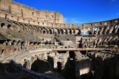ROME; ITALY - APRIL 08: Ruins of the Colloseum and tourists in R Stock Images