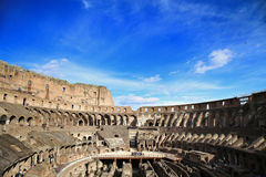 ROME; ITALY - APRIL 08: Ruins of the Colloseum and tourists in R Stock Photography
