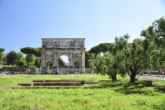 Rome, Italy, Arch of Constantine Emperor stock image