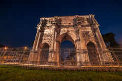 Rome, Italy: Arch of Constantine in the sunset Stock Photo