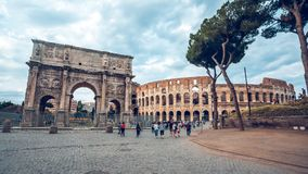 Rome, Italy - 22.06.2018: The Arch of Constantine is a triumphal. Arch in Rome near colosseum Royalty Free Stock Photography