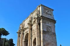 Rome, Italy - Arch of Costantine. royalty free stock images