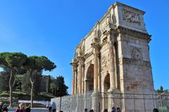 Rome, Italy - Arch of Costantine. stock image