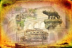 Rome Italy art illustration Stock Photo