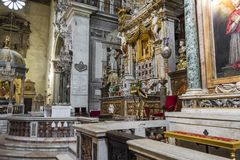 The Basilica of Santa Maria in Aracoeli, Rome, Italy. Rome, Italy - August 31, 2017: The Basilica of Santa Maria in Aracoeli at Rome, Italy Stock Image