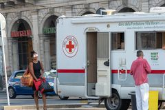 Italian Emergency Mobile Unit royalty free stock photo