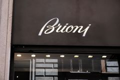 Brioni shop stock image