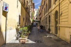Cosy Italian Street Via Margutta stock image