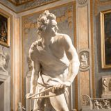 Bernini Statue: David royalty free stock photos