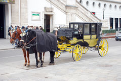 Carriage with two horses Stock Photography
