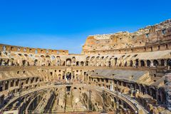 Interior of the Colosseum, Rome Royalty Free Stock Photography