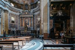 Interior view of the the Church of Gesu in Rome Stock Photography
