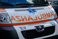 Italian Emergency Mobile Unit stock photos