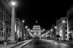 ROME, Italy - 29 August 2015. Night view Royalty Free Stock Photo