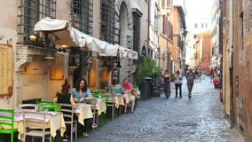 ROME - ITALY, AUGUST 2015: people travel enjoy on streets stock video footage