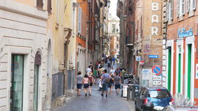 ROME - ITALY, AUGUST 2015: people walking, daily life view stock video footage