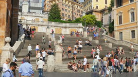 ROME - ITALY, AUGUST 2015: spanish square view stock video