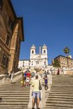 ROME, ITALY - AUGUST 30, 2017 - Spanish steps on Piazza di Spagna in Rome Stock Photography
