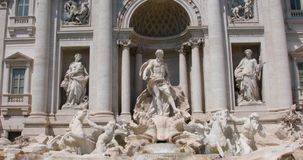 Rome, Italy - August 22, 2019: Fountain di Trevi stock footage