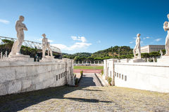 Rome, Italy - August 6th 2016. Outside view of Stadium of the Ma Stock Photos