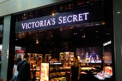 Victoria`s Secret shop Royalty Free Stock Photo