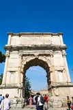 View of Arch of Titus in Rome, Italy Stock Photography
