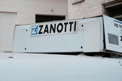 Zanotti refrigeration truck royalty free stock image
