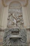 Rome, Italy. Bas relief in Moses Fountain Stock Photos