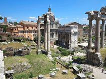 19.06.2017, Rome, italy: Beautiful view of Ruins of famous Roman Stock Photo