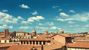 Rome, Italy, bird view to the side of Capitol Hill with roofs an Stock Image