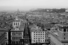 Rome,Italy,black and white Royalty Free Stock Image