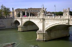 Rome italy   bridge   vittorio emanuele Stock Photo