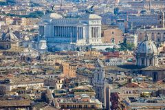 Rome, Italy, capitol in the centre - panorama royalty free stock images