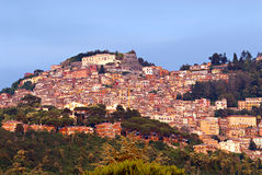 Rome, Italy - Castelli Romani. The village of Rocca di Papa near Rome, Italy. The area of the castelli romani is well know for an old and consolidated food and Stock Photo