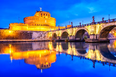 Rome, Italy - Castle Sant Angelo Stock Photography