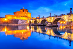 Rome, Italy - Castle Sant Angelo Stock Images