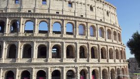 ROME, ITALY - CIRCA May 2018: Famous attraction Colosseum in Rome. Coliseum in capital of Italy stock video