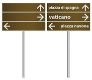 Rome Italy City Signboard Template stock photography