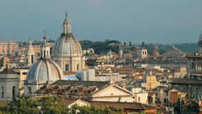Rome, Italy. Cityscape Skyline With Pantheon, Altar Of The Fatherland And Other Famous Lanmarks In Old Historic Town stock video footage