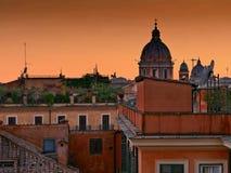 Rome Italy cityscape at sunset twilight Stock Image