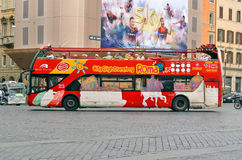 ROME, ITALY Citysightseeing Roma bus Royalty Free Stock Photos