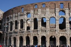 Rome Italy and colloseum. Rome, Italy, on February 26, 2017: Great Roman Colosseum Coliseum Colosseo royalty free stock photos