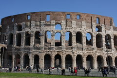 Rome Italy and colloseum. Rome, Italy, on February 26, 2017: Great Roman Colosseum Coliseum Colosseo royalty free stock images