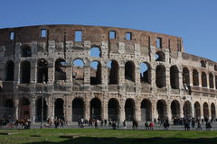 Rome Italy and colloseum. Rome, Italy, on February 26, 2017: Great Roman Colosseum Coliseum Colosseo stock photography