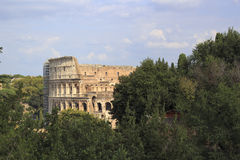 Rome italy colloseum. View form hill royalty free stock photo