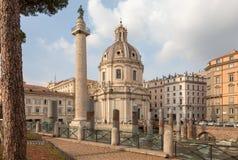 Free ROME, ITALY -  Colonna Traiana, Le Domus Romane Di Palazzo Valentini, Chiesa Di Santa Maria Di Loreto Royalty Free Stock Photography - 159020297