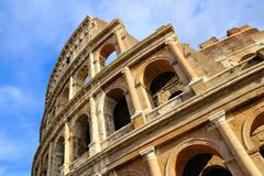 Rome, Italy, the Colosseum, close up, upward view stock photo