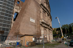 Rome Italy Colosseum Restauration Royalty Free Stock Images