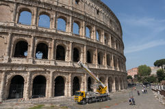 Rome Italy Colosseum Restauration Royalty Free Stock Image