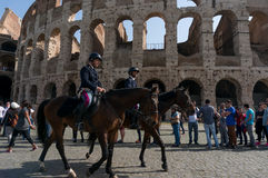Rome Italy Colosseum Tourists Royalty Free Stock Photography